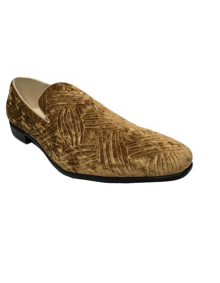 Product#JA1137 Mens Slip On Cap Toe Brown Shoes