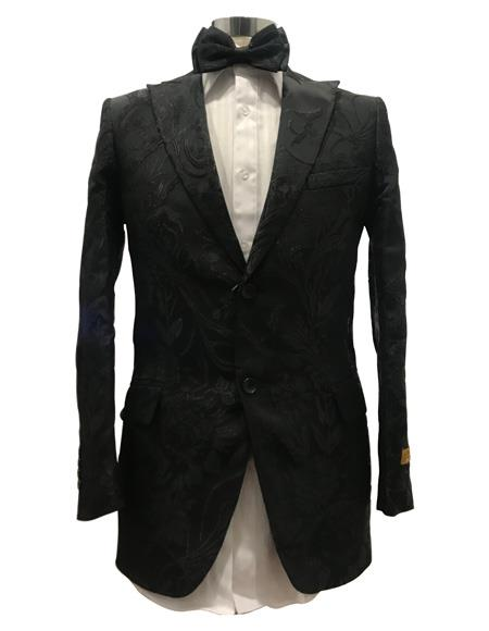 Mens Black Single Breasted Suit