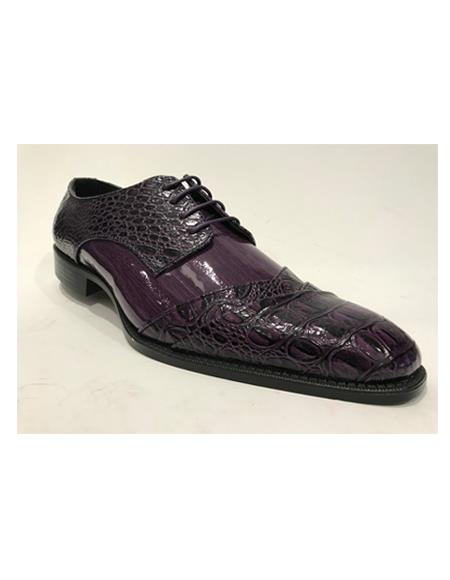 Cap Toe Burgundy Shoes