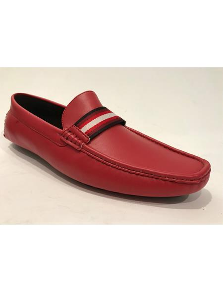 Slip-On Style Red Shoes
