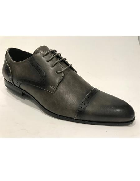 Cap Toe Black Shoes