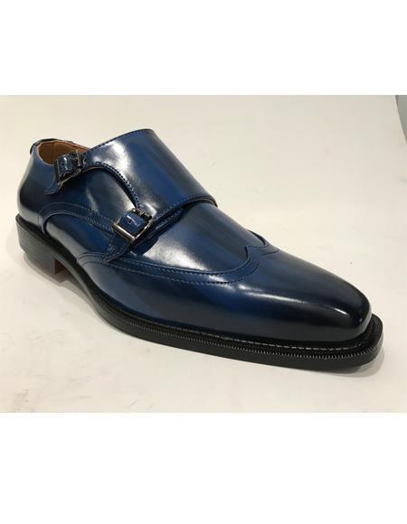 Cap Toe Navy Shoes