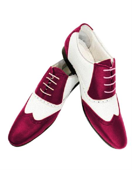 Mens Burgundy Four Eyelet Lacing Leather Shoe