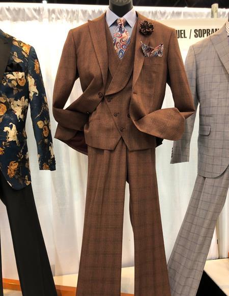 dark brown windowpane suit