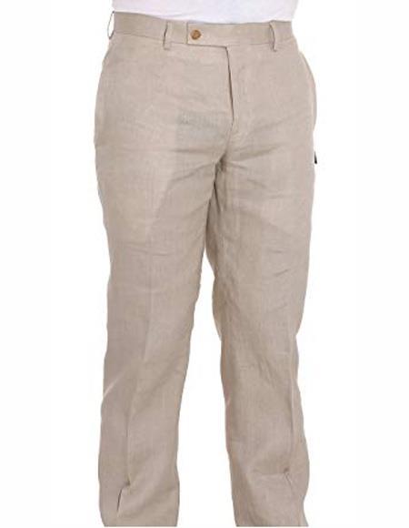 Linen Dress Pants Ivory