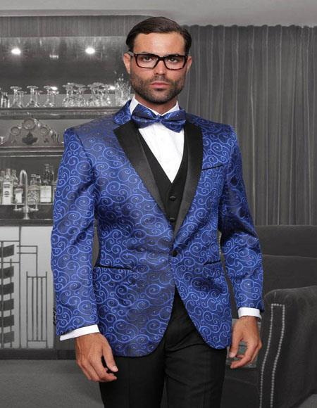 Blue 1-Button Notch Tuxedo