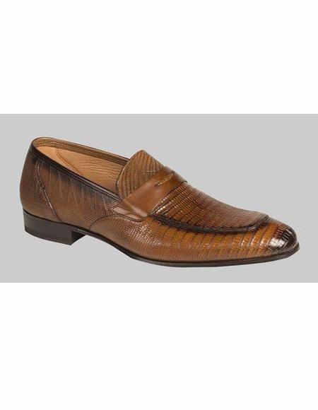 men's Cognac Slip On Loafer Design Shoe