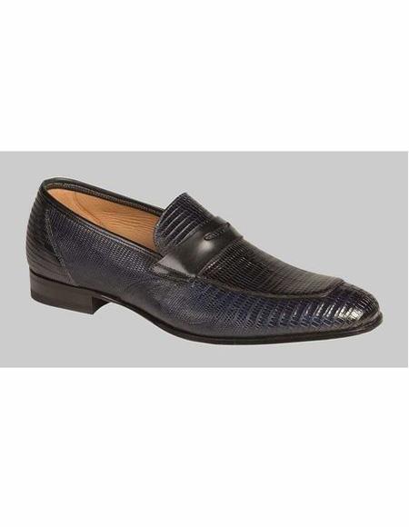 men's Black Slip On Penny Loafer Shoe