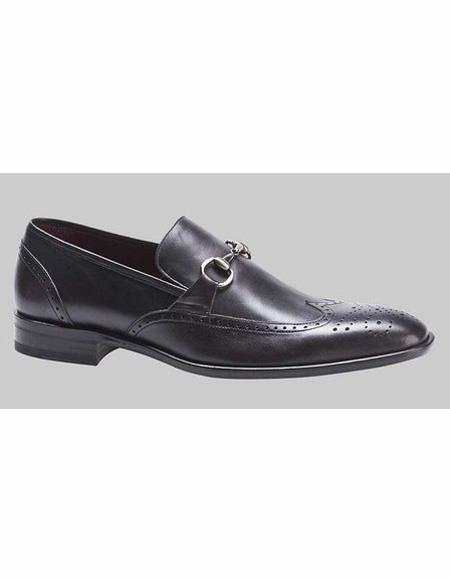 men's Black Wingtip Style 1920s style fashion men's shoes