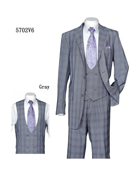 ~ Windowpane Vested Suit