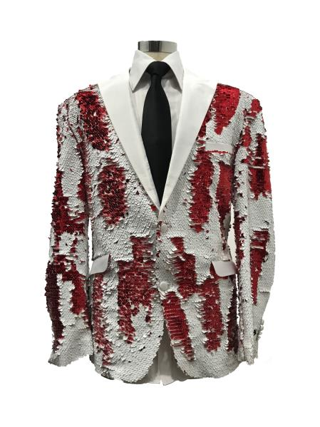 Floral ~ Flower Print Red~White tuxedos