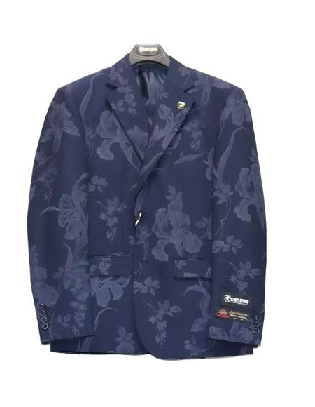 Floral Suit Jacket And
