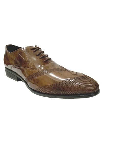 Brown Dress Shoe Mens Cap Toe Brown Shoes