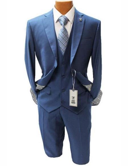 Button Suit Notch Lapel