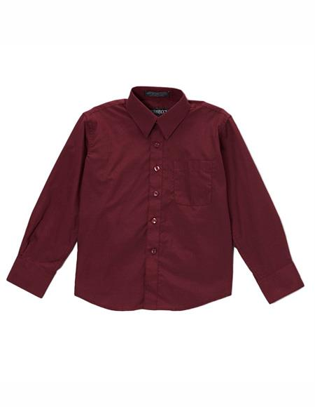 Burgundy Regular Fit Button