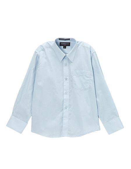 Blue Regular Fit Button