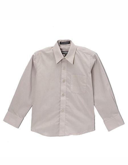 Grey Regular Fit Button