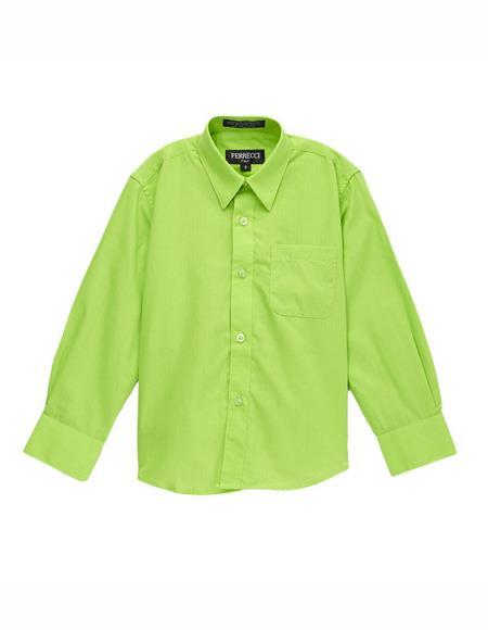Button Closure Shirt Lime