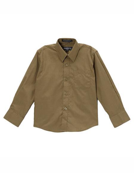 Olive Regular Fit Shirt