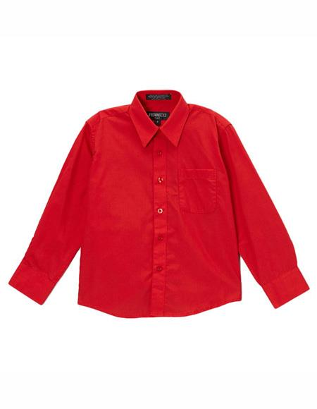 Closure Red Shirt Regular