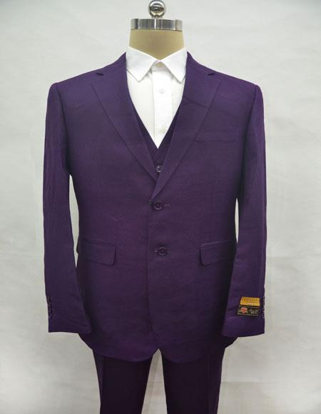 Linen-2BV Purple Suit