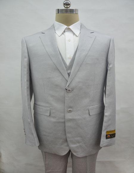Linen-2BV Gray Suit