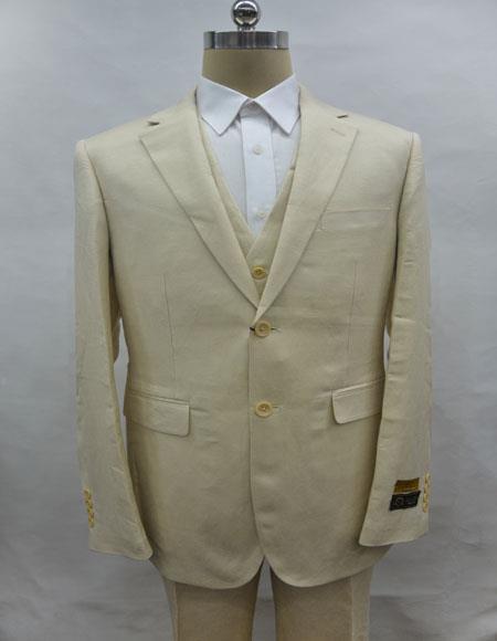 Linen-2BV Natural Suit