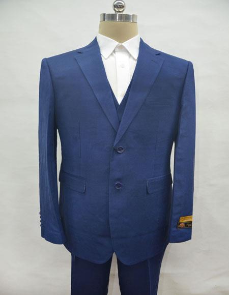 Linen-2BV Navy Suit