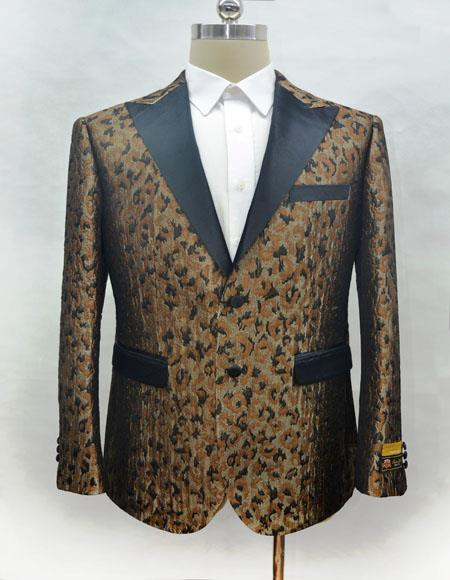 Mens Fashion Camo Ostrich looking Suit