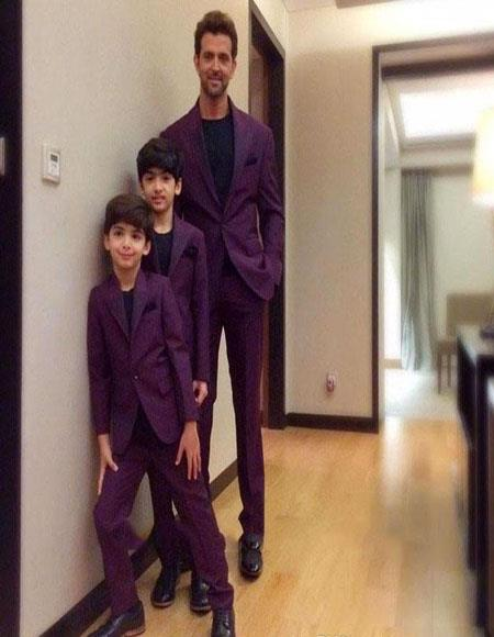 Father ~ Dad And Son Matching Suits Burgundy