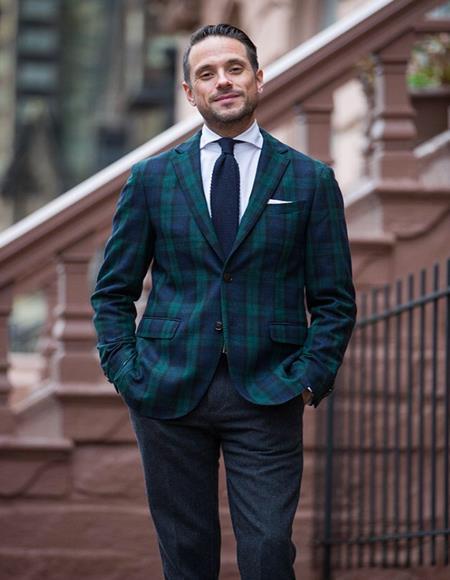 Plaid Window Pane Suit