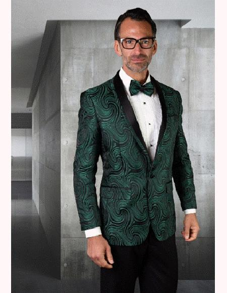 Olive Green Tuxedo And