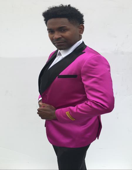 Breasted Peak Label Pink