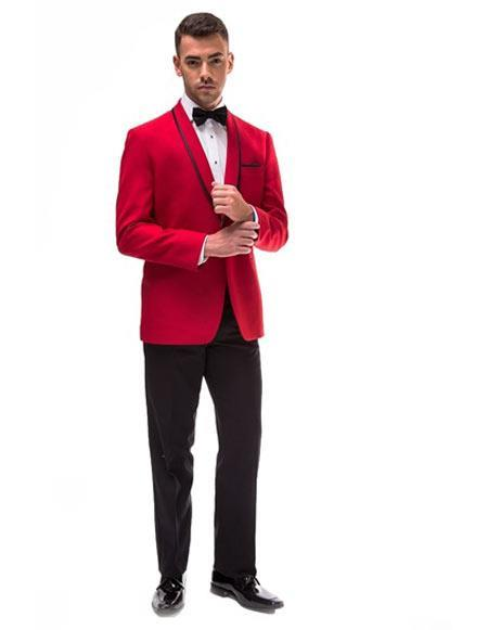 Red Dress Mens suit