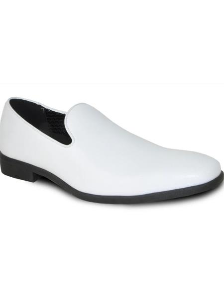 Men Loafer Style Dress Shoe White