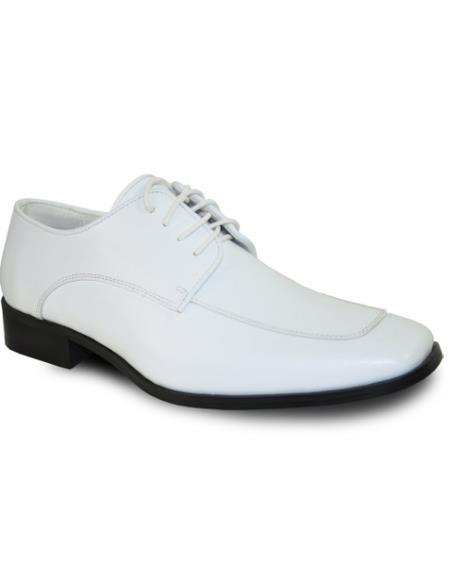 Men Dress Shoe Classic Tuxedo Style Formal Tuxedo for Prom & Wedding White Matte