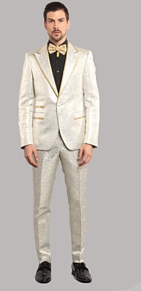 Blue Tuxedo Suit Jacket