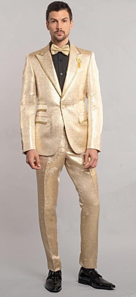 Gold Tuxedo Suit Jacket