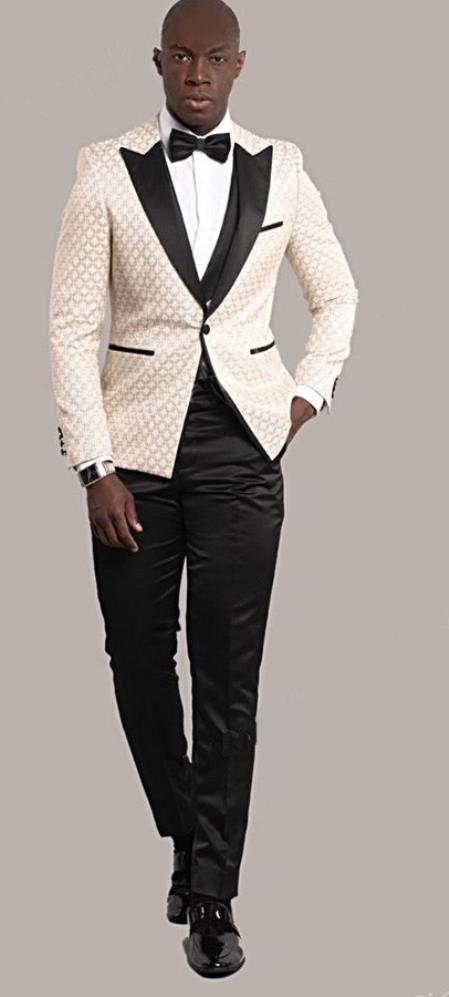 Ivory Tuxedo Suit Jacket