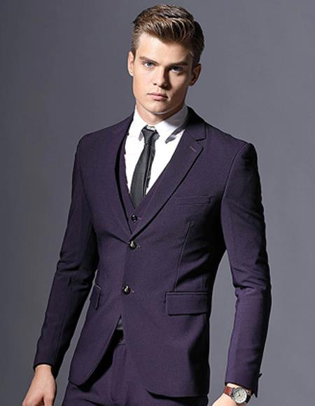 Purple Slim Fit Formal