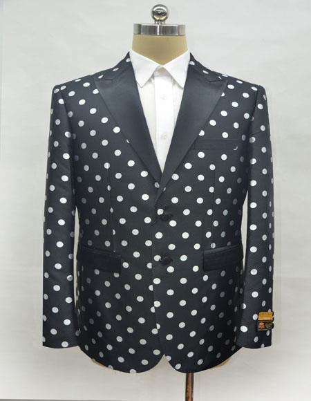 Mens Black - White Blazer