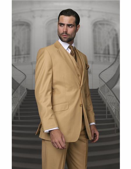 Gold Color Wool Suit