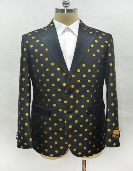 Unique Mens Black ~ Gold Casual Print Fashion Printed Fabric Perfect to Match with Jeans Available in Big and Tal