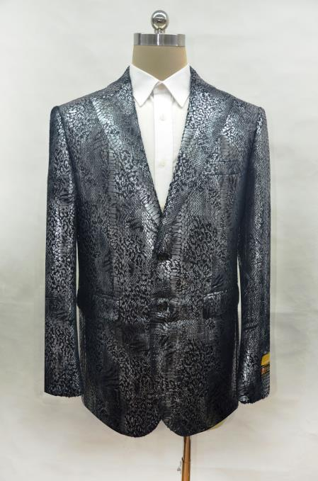 peak lapel alligator skin