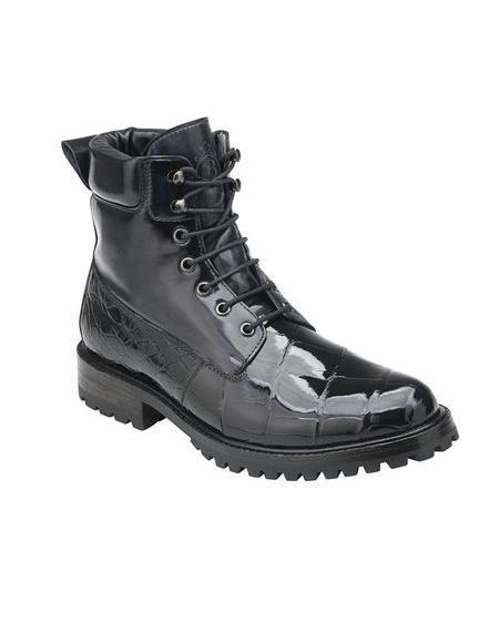 Black Alligator Work Boot