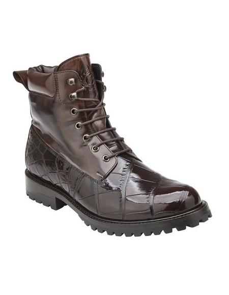 Brown Alligator Work Boot