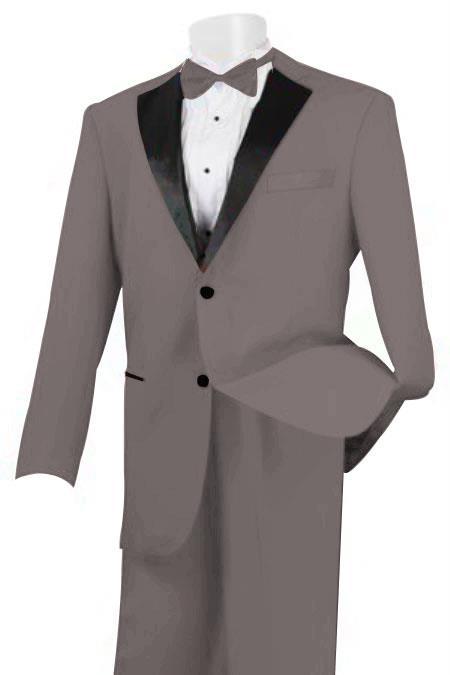 Men's 2 Piece Linen Causal Outfits Fabric Tuxedo Light Grey / Beach Wedding Attire For Groom