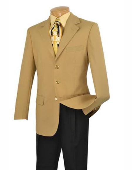 Suit Single Breasted Gold