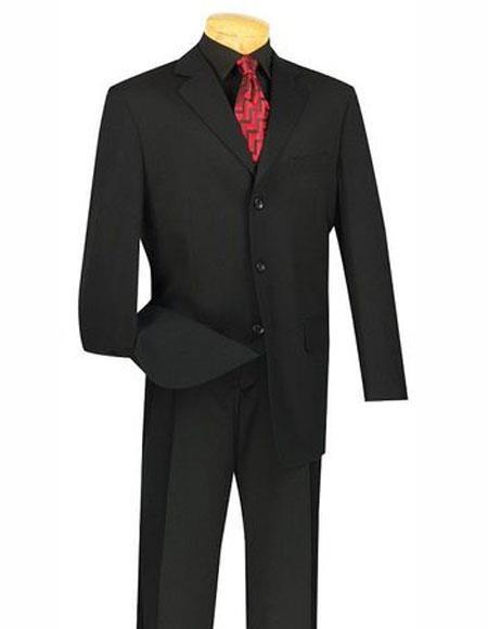 Suit Black Notch Lapel