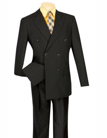 Suit Black Blazer Peak